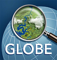GLOBE Observer globe with magnifying glass thumbnail image