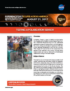 Eclipse Testing Polarization Sensor PDF preview