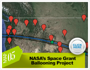 NASA's Space Grant Ballooning Project map page link preview image